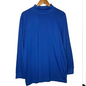 Woman Within Blue Turtleneck Sweater Top 18/20